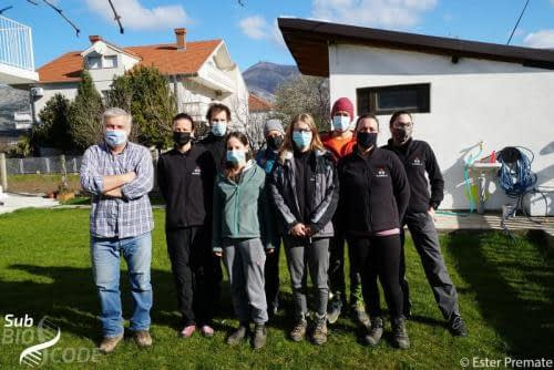 Group photo with Jasminko from Center for Karst and Speleology and members of SubBioLab (Maja, Hans, Anja K., Špela, Anja P., Teo, Beki, Ester).