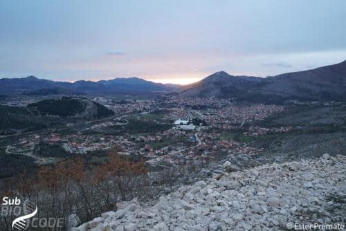 When returning from the fieldwork, we stopped by the road to admire the beautiful view over Trebinje.