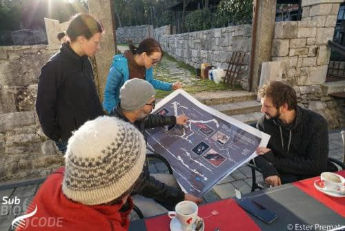 Making plans to visit Vjetrenica cave, with Nikša Vuletić, director of PE Vjetrenica.